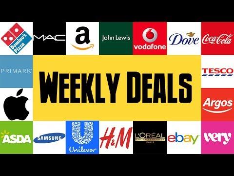 Weekly Vouchers #1 - Tesco, Amazon Prime, Argos, The Body Shop