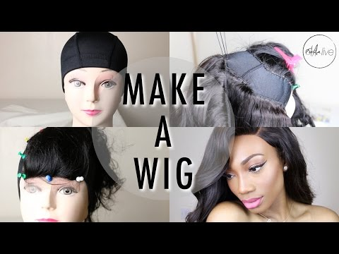 HOW TO : MAKE A WIG | Step By Step Tutorial (SEWING A LACE CLOSURE & BUNDLES)