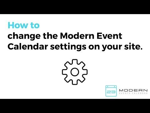 Modern Events Calendar Overview