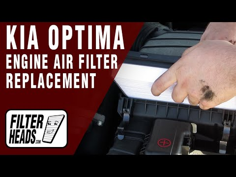 How to Replace Engine Air Filter Kia Optima 2011-2013