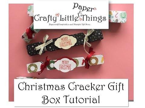 Chistmas Cracker Gift Box Tutorial