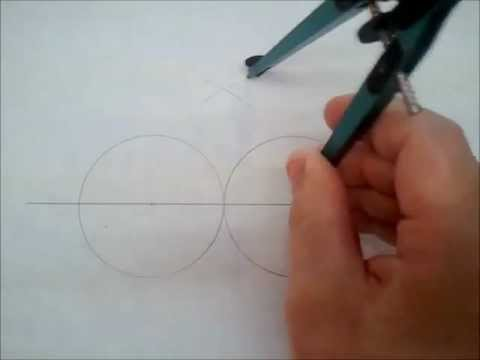 Drawing an oval with a compass and no string (very simple)