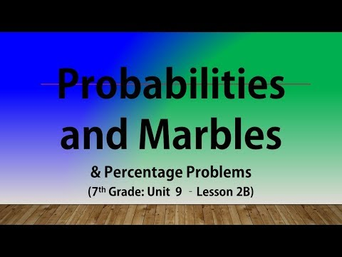 Probabilities  and Marbles & Percentage Problems (7th Grade Unit 9 Lesson 2B)