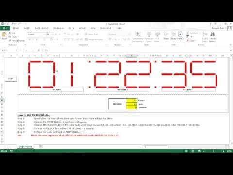 Digital Clock in Excel