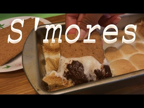 S'MORES IN OVEN |S'MORES INDOORS  |S'MORES DIP,CHOCOLATE AND MARSHMALLOW