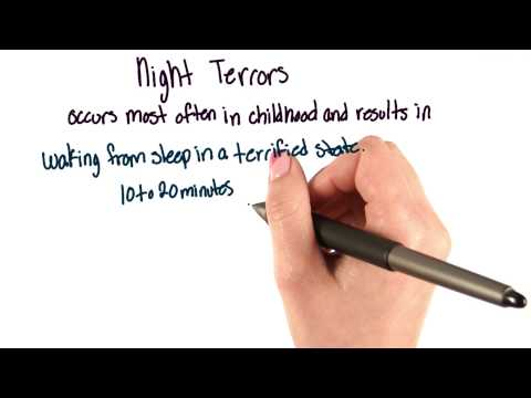 Night terrors - Intro to Psychology