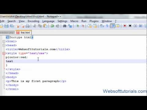 Html and Css Tutorial - 18 - Text property in Css (text color, text  align, text decoration etc)