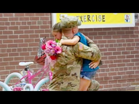 National Guardsman Returns Home to Surprise Daughter, 8, at School Assembly