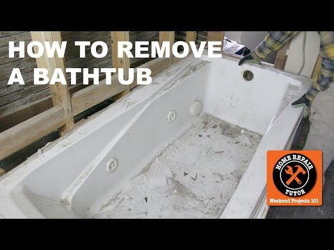 How to Remove a Bathtub SAFELY!! (Step-by-Step) -- by Home Repair Tutor