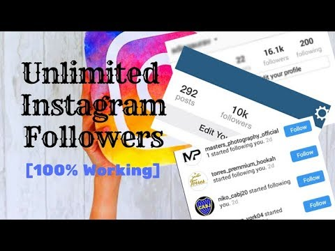How To Get 100% REAL UNLIMITED Instagram Followers FOR FREE and WITHOUT following others!