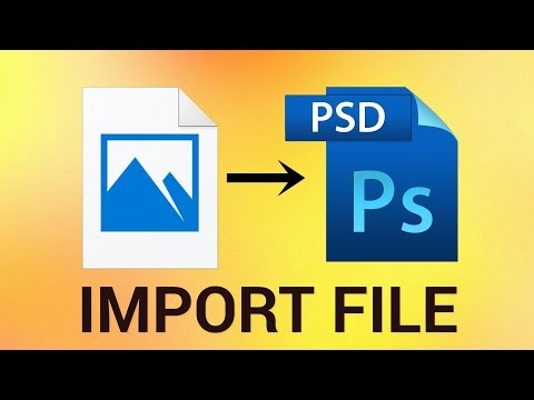 How to Import Pictures File to an Existing PSD in Photoshop CS5