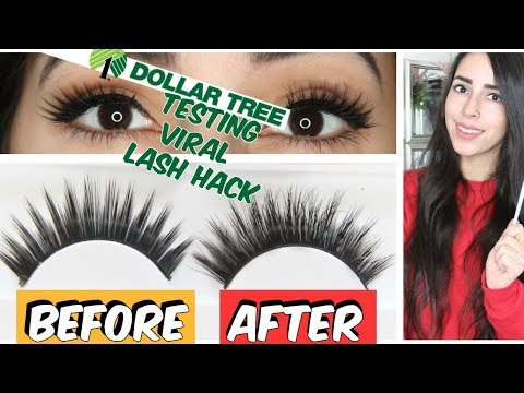 DOLLAR TREE FAKE EYELASH HACK + HOW TO TAKE AWAY SHINE FROM FAKE LASHES