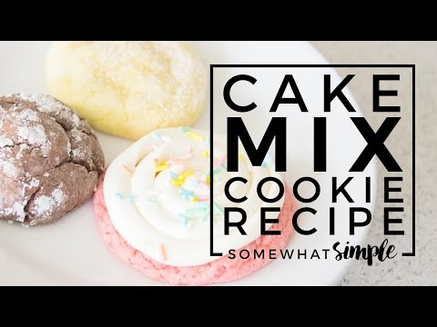 Easy 3 Ingredient Cake Mix Cookie Recipe That Are Delicious and Easy To Make!