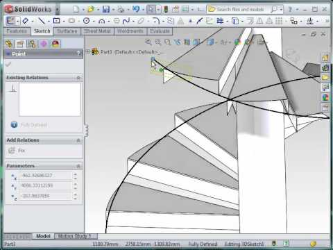 How to Model Spiral Stairs in SolidWorks