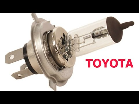 Headlight Bulbs Replace Install Easy Change On Toyota Tacoma LED or High End Halogen
