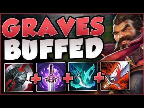 WTF! RIOT 100% GAVE TOO MUCH DAMAGE TO GRAVES! BUFFED GRAVES SEASON 8 TOP! League of Legends
