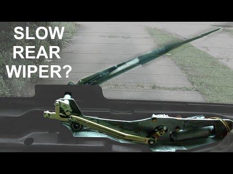 Rear window wiper troubleshooting