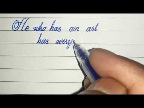 awesome handwriting with gel pen|| modern calligraphy|| CURSIVE WRITER