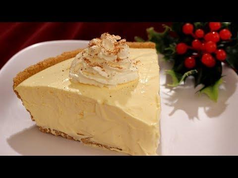 No Bake Eggnog Pie Recipe - Amy Lynn's Kitchen