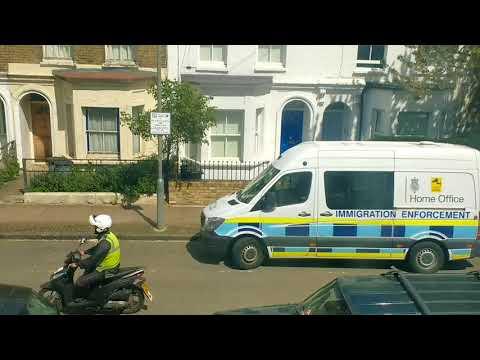 UK Immigration Enforcement crackdown in London UK
