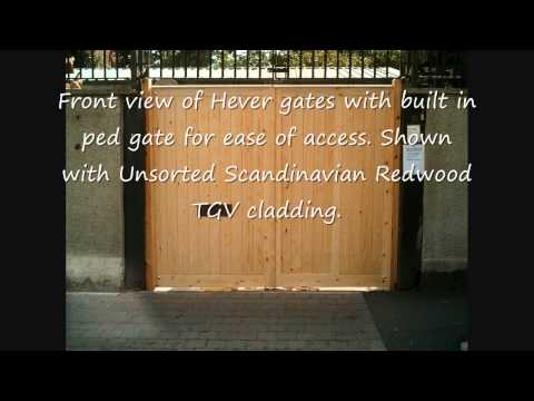 Wooden gates with graded Scandinavian Redwood Softwood TGV cladding