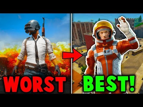 RANKING EVERY BATTLE ROYALE GAME FROM WORST TO BEST!