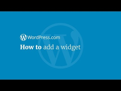WordPress Tutorial: How to Add a Widget
