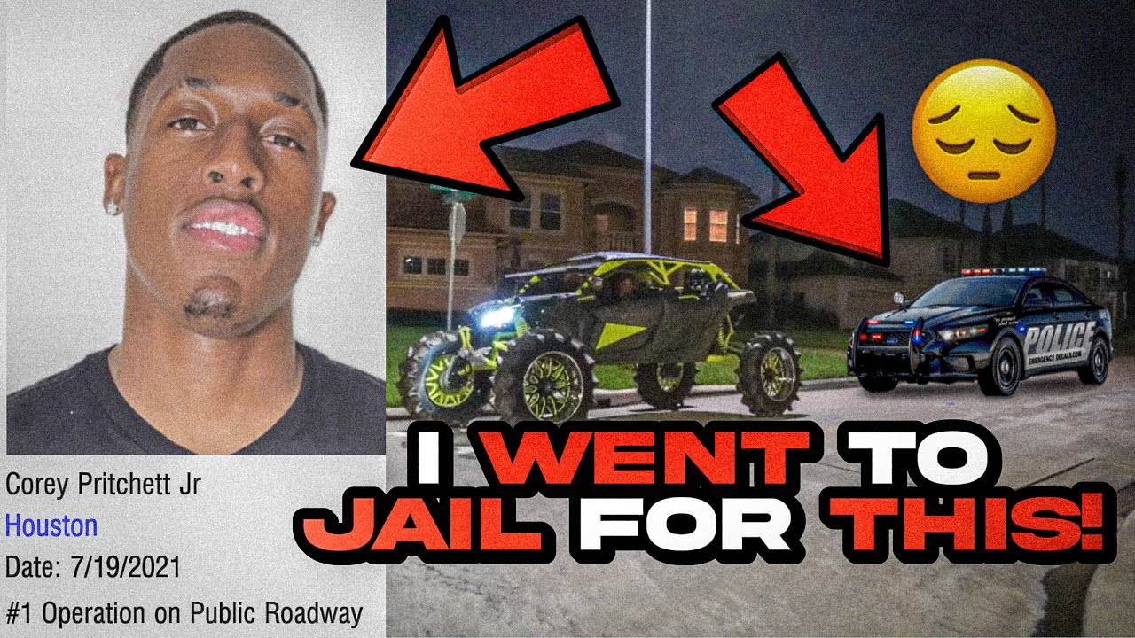 I WENT TO JAIL ? LIVE POLICE CHASE IN CAN-AM MAVERICK
