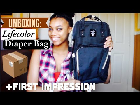 UNBOXING: Lifecolor Diaper Bag - First Impression| Teen Mom