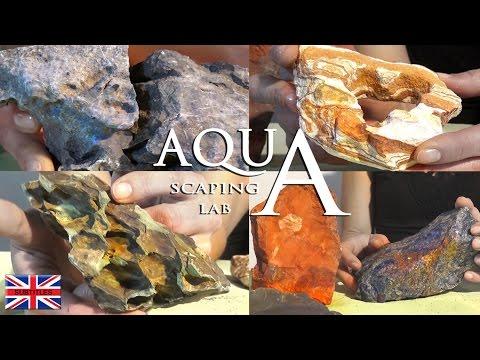 Aquascaping Lab - Aquarium Rocks:  Dragon stone,Seiryu stone,Slate,Rainbow,Pagoda,Quartz,Sodalite