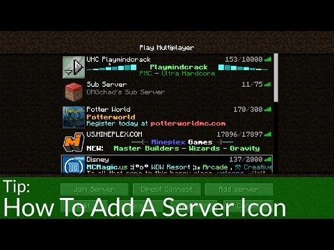 How To Add A Server Icon in Minecraft