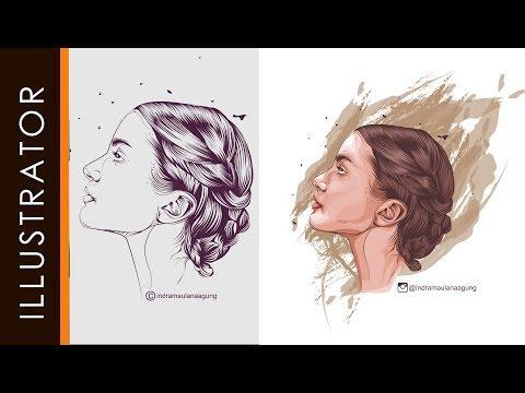 Adobe Illustrator Tutorial Line Art Coloring Pen Tools Crazy PART 2 #FreeDownloads