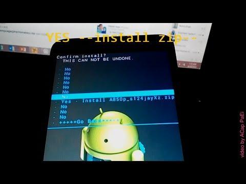 Lenovo A850+ - how to flash rom via CWM recovery