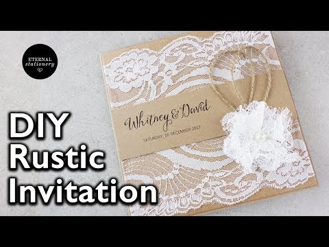 How to make a rustic style lace wedding invitation | DIY invitations