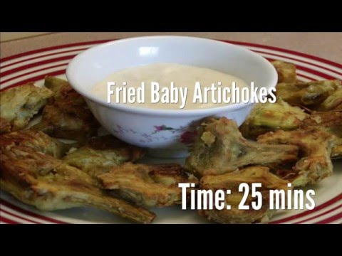 Fried Baby Artichokes Recipe