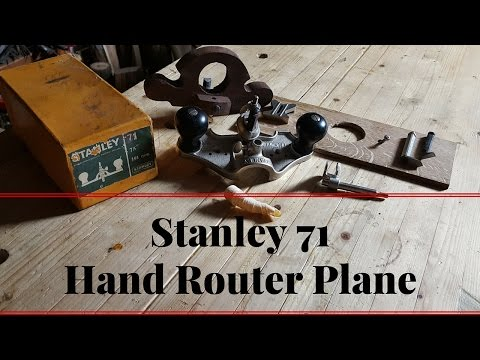 How to Use A Router Plane And Sharpen The Iron Stanley 71 1/2