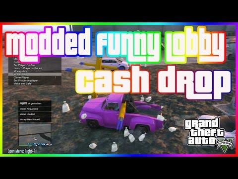GTA 5 ONLINE 1 25 - FUNNY LOBBY / MONEY DROP [PS3 MODS