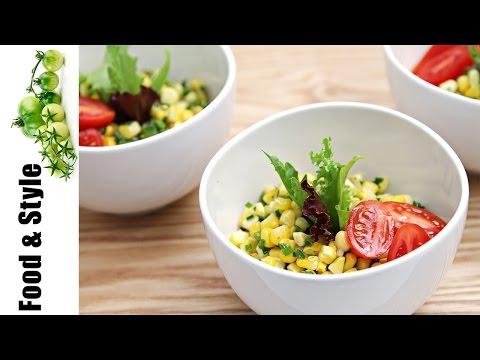 Sweet Corn Salad with Jalapeños & Lime-Infused Oil