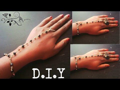 D.I.Y wrist and ring bracelet (tutorial)
