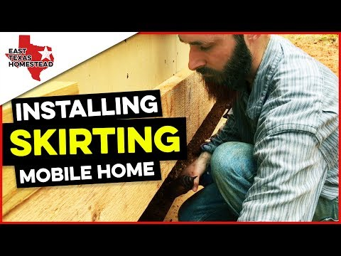 Installing Mobile Home Skirting with 4x8 Hardie Board Siding | #EastTexasHomestead
