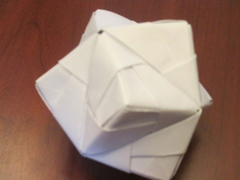 How to make an Origami Woven Stellated Octahedron with Sonobe modules