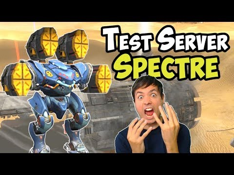 War Robots New OP Robot Spectre Test Server Gameplay (3.6)