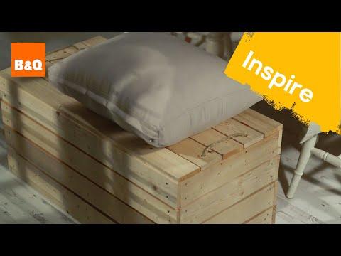 Wooden storage bench #DIYcuts