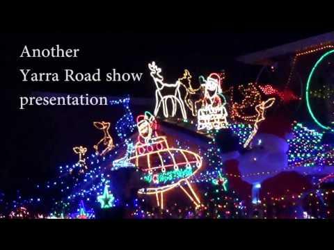 Christmas lighting decorations  around Melbourne city