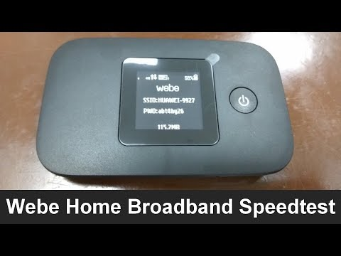 Webe Broadband 4G SpeedTest