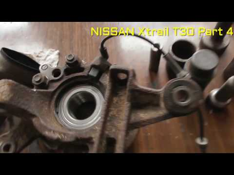 Nissan x trail rear wheel bearing replacement PART 4