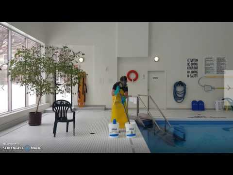 How to put on your PPE and add chemicals to a pool