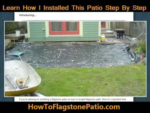 Learn how to install a flagstone patio or path - I can help with your flagstone installation