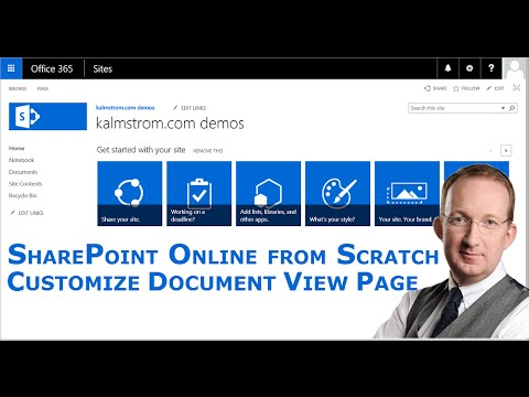 Customize the SharePoint Document View Page