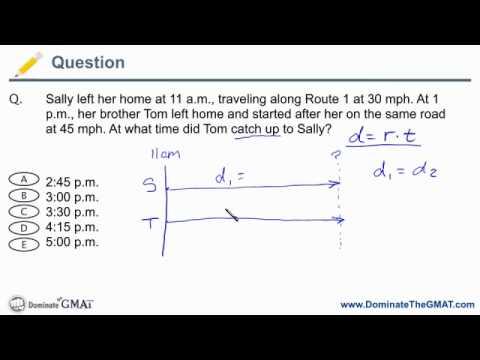 GMAT Rate Problem - Catch-Up Questions - GMAT Problem Solving.mov